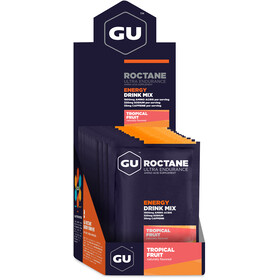 GU Energy Roctane Ultra Endurance Energy Drink Mix Box 10x65g, Tropical Fruit